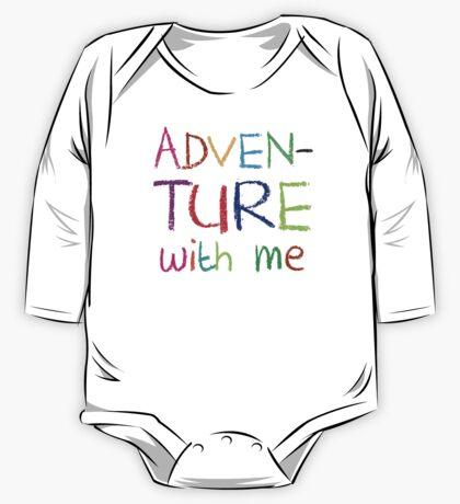 ADVENTURE WITH ME cute kids adventuring design One Piece - Long Sleeve