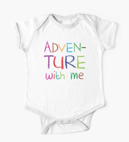 ADVENTURE WITH ME cute kids adventuring design One Piece - Short Sleeve