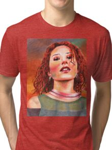 Raspberry Swirl Girl Tri-blend T-Shirt