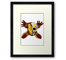 Iron Skull. Framed Print