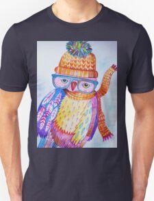 Owl. Winter. Woodland.Owl Art. Wildlife art. wildlife owl Unisex T-Shirt