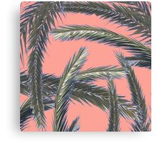 Palm tree leave collage Canvas Print