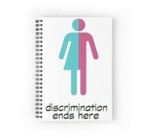 discrimination ends here Spiral Notebook
