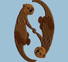 Kawaii Sleeping Otters Unisex T-Shirt