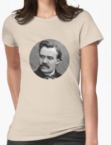 Friedrich Nietzsche sticker Womens Fitted T-Shirt