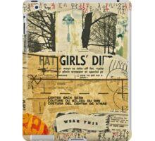 Fat Girls' Diet - A Vintage Collage iPad Case/Skin