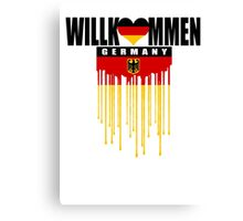 welcome germany Canvas Print