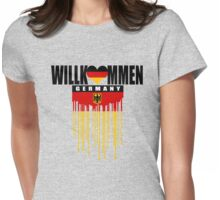 welcome germany Womens Fitted T-Shirt