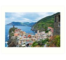 Vernazza Cinque Terre from Above Art Print
