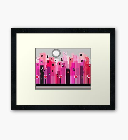 Party In The City Framed Print