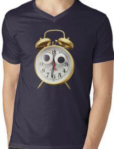 Googly-Eyed Alarm Clock Mens V-Neck T-Shirt
