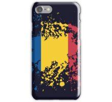 Romania Flag Ink Splatter iPhone Case/Skin