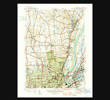 USGS TOPO Map Connecticut CT Hartford North 330881 1945 31680 Unisex T-Shirt
