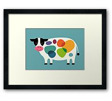 Awesome Cow Framed Print