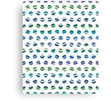 Multi Colored Polka Dots Chevron Canvas Print