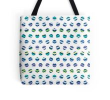 Multi Colored Polka Dots Chevron Tote Bag