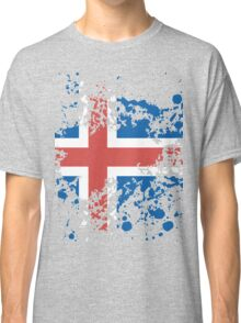 Iceland Flag Ink Splatter Classic T-Shirt