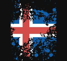 Iceland Flag Ink Splatter Unisex T-Shirt