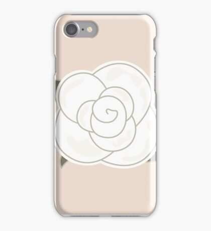 White vintage rose for Syria iPhone Case/Skin