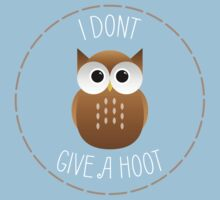 I Dont Give A Hoot - Punny Farm - Light One Piece - Short Sleeve