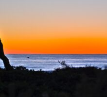 Sunset over the Coast of Cambria, California Sticker