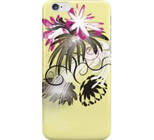 Sunny garden, flowers with yellow iPhone Case/Skin