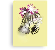 Sunny garden, flowers with yellow Canvas Print