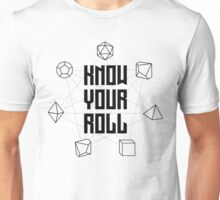 Know Your Roll - Black Unisex T-Shirt