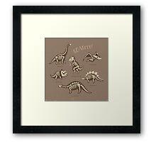 Dinosaur skeletons Framed Print