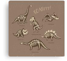 Dinosaur skeletons Canvas Print