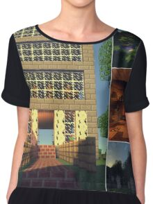 SO Player Bases Collage Chiffon Top