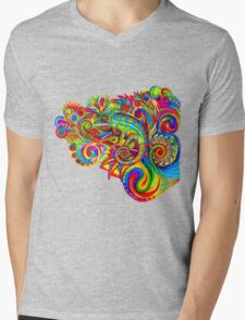 Psychedelizard Mens V-Neck T-Shirt