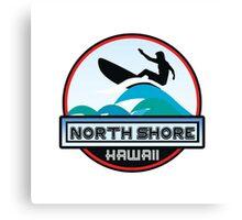 Surfing North Shore Hawaii Oahu Surf Surfboard Waves Canvas Print