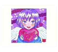 Cupid Holly Art Print