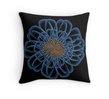 Flower Fractal Mandala 4B Throw Pillow