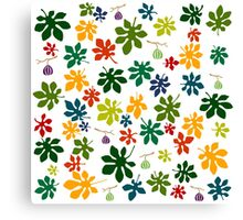 Colorful fig tree pattern Canvas Print