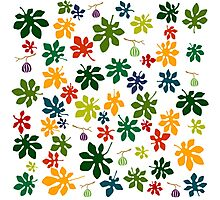 Colorful fig tree pattern Photographic Print