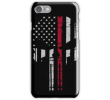 Police Punisher Red Line iPhone Case/Skin