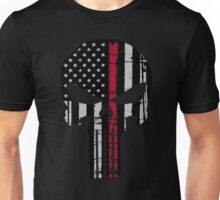 Police Punisher Red Line Unisex T-Shirt