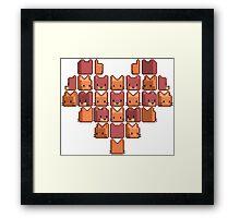 Cat Heart Framed Print