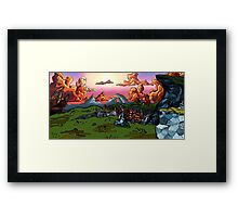 The Sun Soaked Clouds Framed Print