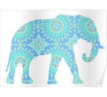 Blue Elephant Poster