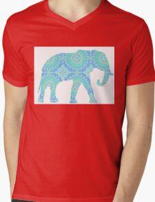 Blue Elephant Mens V-Neck T-Shirt