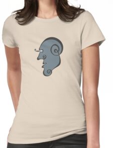 Surreal Face Womens Fitted T-Shirt