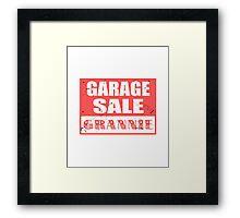 GARAGE SALE GRANNNIE Framed Print
