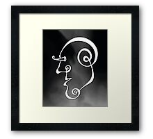 Surreal Face (wall art) Framed Print
