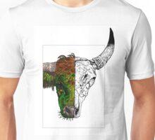 The bull and the skull Unisex T-Shirt