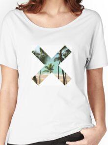 X Palm Tree Beach Women's Relaxed Fit T-Shirt