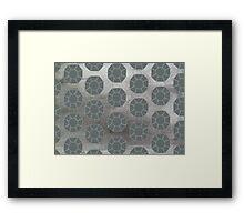 Pewter City (Pattern) Framed Print