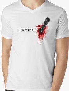 I'm fine Mens V-Neck T-Shirt
